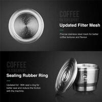Kaffeekapseln Nachfüllbar Tasse für Nespresso Wiederverwendbar Filter Edelstahl