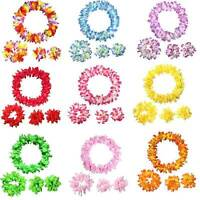 Hawaiian Hula Flower Neck Garland Lei Luau Aloha Beach Party Favor Fancy Dress