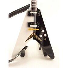 Scorpions Miniature Guitar - Michael Schenker - Dean Flying V Black and White