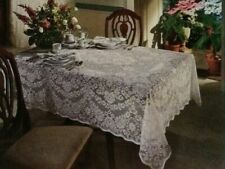Quaker Lace Tablecloth White Diana 60 x 84 Cotton Blend Dining Room Kitchen