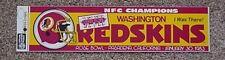 1983 SUPER BOWL XVII SB 17 WASHINGTON REDSKINS BUMPER STICKER Unsold Game Site