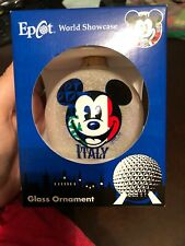 Epcot World Showcase Mickey Mouse Italy Ornament Glass Ball New