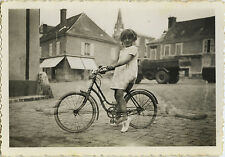 PHOTO ANCIENNE - VINTAGE SNAPSHOT - VÉLO BICYCLETTE ENFANT SUPERPOSITION FANTÔME