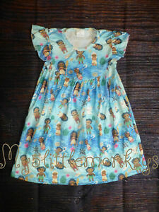 NEW Boutique Frozen Olaf Aristocats Moana Dumbo Toy Story Girls Pearl Dress