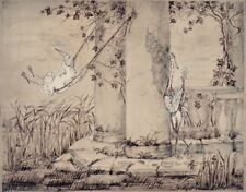 The Heron & the Crane Y.Norstein's/Norshteyn animation Signed Giclée (Swings)