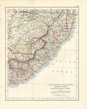 1897 ANTIQUE MAP- JOHNSTON - CAPE COLONY EAST, NATAL, BASUTOLAND, ORANGE FREE
