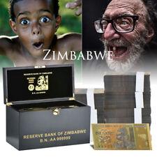 WR 1000PCS Z$100 Trillion Zimbabwe Colored Banknote Set Novelty With Wooden Box