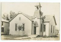 RPPC Methodist Church MAYWOOD NE Vintage Nebraska Real Photo Postcard