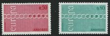French Andorra Scott #205-06, Singles 1971 Complete Set FVF MNH