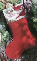 Cross Stitch Christmas STOCKING Red Cardinals PATTERN Pine Cones Barbara Baatz