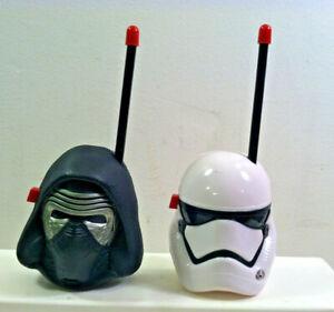 Disney Star Wars FIRST ORDER WALKIE TALKIES Kylo Ren and Stormtrooper.  Used.