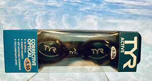 TYR Active Rx Corrective Optical Polycarbonate Swim Goggles, -5.50 Black