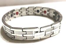 Authentic ION EFFECT silver Negative Ion Bracelet  BALANCE Energy Pain relief