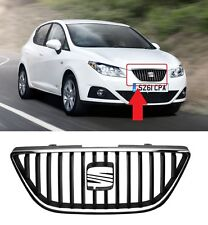 FOR SEAT IBIZA 08-12 NEW FRONT BUMPER TOP UPPER CENTRE MAIN GRILLE WITH CHROME