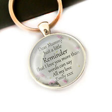 Personalised Birthday Keyring Mothers Day Gifts For Mummy Mammy Mum Gran Nanny