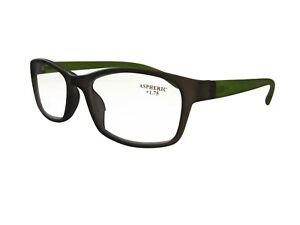 Bifocal Reading Glasses in Trendy Grey Green  Frame with Aspheric Lenses