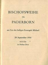 Bischofsweihe Dom-Kapitular Wilhelm Tuschen d. Kardinal Jaeger, Paderborn 1958
