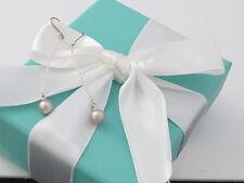 New Tiffany & Co Peretti Silver Pink Pearl Earrings Dangle Box Pouch Ribbon Card