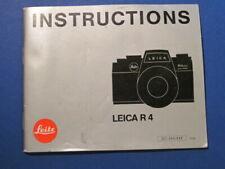 * Leica R 4 Camera manual - Good condition