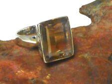 AMETRINE   Sterling  Silver  925  Gemstone  RING   -  Size  Q