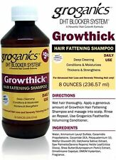 Groganics growthick Cabello engorde Shampoo bloqueador de DHT sistema 236.57 Ml