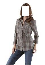 Karobluse , Bluse, Aniston , Gr. 34, braun-grau