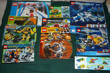 11 Lego Instruction Manuals Space Police 5974 1&2 5972 8959 3538 7312 8896 8123+