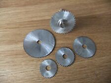 5 disques circulaire HSS + axe pour usiner bois, plastique pour perceuse dremel