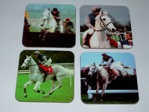 Desert Orchid Horse Racing Legend COASTER Set