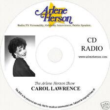 Carol Lawrence Interview  6 segments  35 Minutes  CD