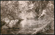 BUCKLEY MI Fishing At Fletcher Creek 1907 Antique RPPC