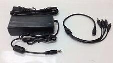 DC 12V 5A Power Supply Adapter & 4 Split Power Cable - CCTV Security Camera DVR