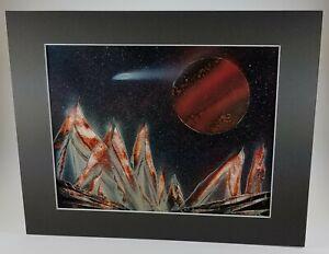 Original Multi Colored Space Art by Artist Jason Girard with matte supplies