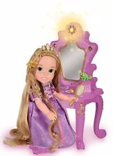 "Disney Tangled Toddler Rapunzel Doll 15"" Enchanted Vanity Mirror Light Sound NEW"