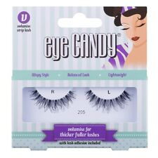 Eye Candy False Eyelashes Eye Styles Volumise 205 + Adhesive Glue Long Thick