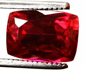 15.35 Cts. Natural Mozambique Red Ruby Faceted Cushion Shape Certified Gemstone