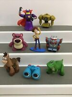 Disney Pixar Toy Story Mixed Lot Of 8 Pieces Figures Cake Toppers Zurg Robot