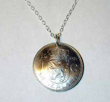 Coin Jewelry~Vintage Netherland lion necklace-nicely domed!