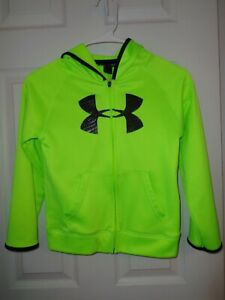 Boys Under Armour Zip Front Hoodie Size 7 Jacket