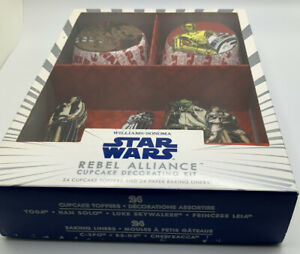STAR WARS Rebel Alliance Cupcake Decorating Kit (NEW) 24  TOPPERS & 24  LINERS
