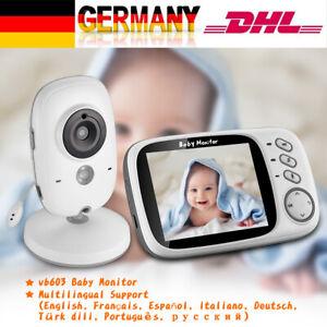 HD Babyphone Baby Video Monitor Temperatursensor mit Kamera Monitor Nachsicht DE