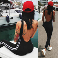 Women Jumpsuit Romper Bodycon Playsuit Leggings Trousers Pants Active Wear Yoga