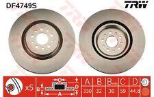 TRW Disco de freno (x2) 330mm ventilado ALFA ROMEO 147 GT DF4749S