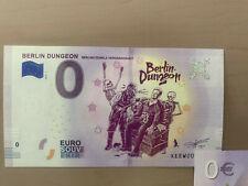 0-Euro Berlin Dungeon XEEW 2019-1  Souvenirschein 0 € Geldschein 0€ Banknote RAR