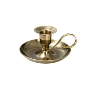 Handleuchter Klassik Kerzenhalter Höhe 5cm Messing Gold Antik Kerzen Bis Ø2cm