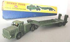 Dinky Toys Army Military Thornycroft Antar Tank Transporter