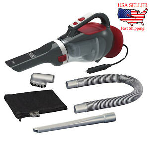 Black & Decker Portable Car Vacuum Cleaner 12V Vacuum Kit Corded