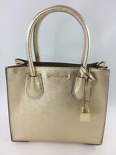b1d2e8a8dbd8 New Authentic Michael Kors Mercer Studio Medium Messenger Satchel Handbag  Gold