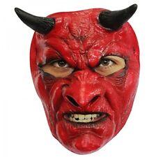 MASCHERA LATTICE DIAVOLO Halloween Carnevale Accessori Demone Demonio MAHAL634