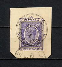(YYAC 166) British East Africa 1929 USED KUT cut squares stationery registration